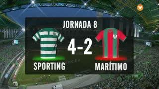 I Liga (8ªJ): Resumo Sporting CP 4-2 Marítimo M.