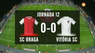 I Liga (12ªJ): Resumo SC Braga 0-0 Vitória SC