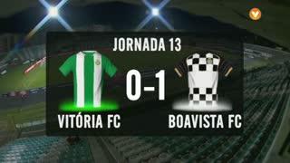 I Liga (13ªJ): Resumo Vitória FC 0-1 Boavista FC