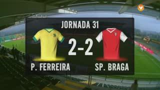 I Liga (31ªJ): Resumo FC P.Ferreira 2-2 SC Braga