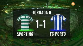 I Liga (6ªJ): Resumo Sporting CP 1-1 FC Porto
