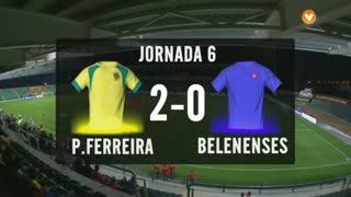 I Liga (6ªJ): Resumo FC P.Ferreira 2-0 Belenenses
