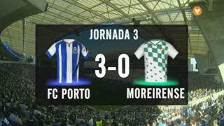 I Liga (3ªJ): Resumo FC Porto 3-0 Moreirense FC