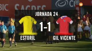 I Liga (24ªJ): Resumo Estoril Praia 1-1 Gil Vicente FC
