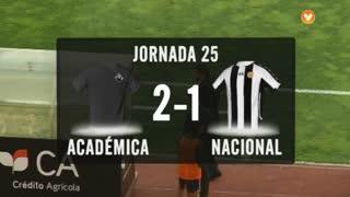 I Liga (25ªJ): Resumo A. Académica 2-1 CD Nacional