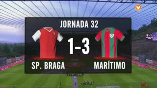 I Liga (32ªJ): Resumo SC Braga 1-3 Marítimo M.