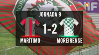I Liga (9ªJ): Resumo Marítimo M. 1-2 Moreirense FC
