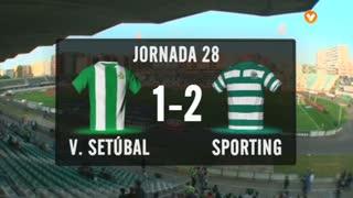 Liga (28ª J): Resumo V. Setúbal 1-2 Sporting