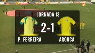 I Liga (13ªJ): Resumo FC P.Ferreira 2-1 FC Arouca