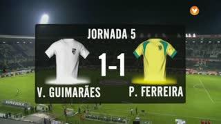 I Liga (5ªJ): Resumo Vitória SC 1-1 FC P.Ferreira