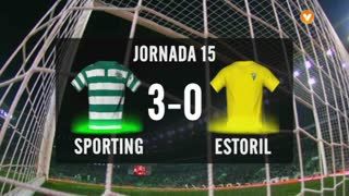 Liga (15ª J): Resumo Sporting 3-0 Estoril