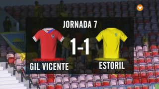 Liga (7ª J): Resumo Gil Vicente 1-1 Estoril