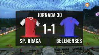 I Liga (30ªJ): Resumo SC Braga 1-1 Belenenses