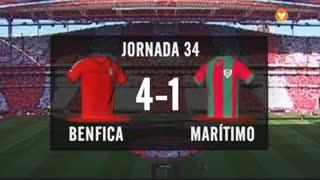 I Liga (34ªJ): Resumo SL Benfica 4-1 Marítimo M.
