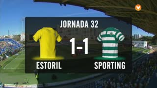 Liga (32ª J): Resumo Estoril 1-1 Sporting