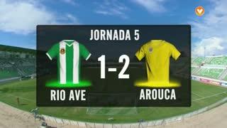 I Liga (5ªJ): Resumo Rio Ave FC 1-2 FC Arouca