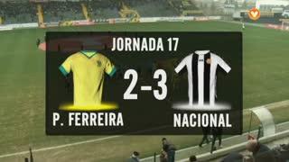I Liga (17ªJ): Resumo FC P.Ferreira 2-3 CD Nacional