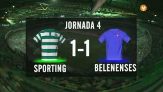 I Liga (4ªJ): Resumo Sporting CP 1-1 Os Belenenses
