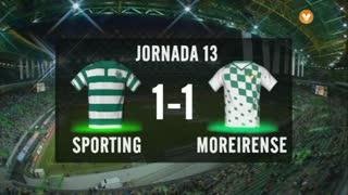I Liga (13ªJ): Resumo Sporting CP 1-1 Moreirense FC