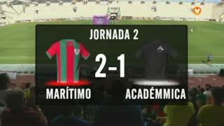 I Liga (2ªJ): Resumo Marítimo M. 2-1 A. Académica