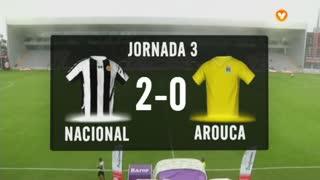 I Liga (3ªJ): Resumo CD Nacional 2-0 FC Arouca