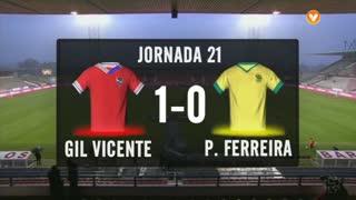 I Liga (21ªJ): Resumo Gil Vicente FC 1-0 FC P.Ferreira