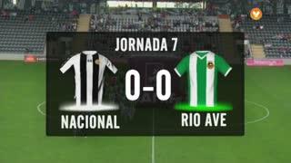 I Liga (7ªJ): Resumo CD Nacional 0-0 Rio Ave FC