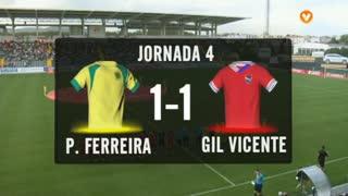 I Liga (4ªJ): Resumo FC P.Ferreira 1-1 Gil Vicente FC