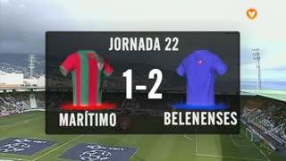 I Liga (22ªJ): Resumo Marítimo M. 1-2 Belenenses