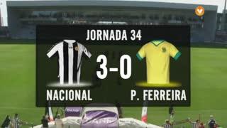 I Liga (34ªJ): Resumo CD Nacional 3-0 FC P.Ferreira