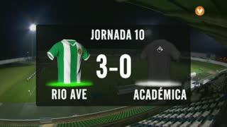 I Liga (10ªJ): Resumo Rio Ave FC 3-0 A. Académica