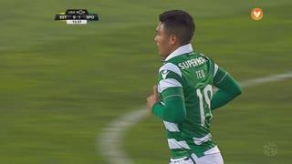 Sporting CP, Jogada, T. Gutiérrez aos 13'
