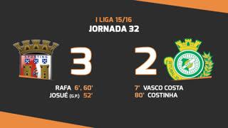 I Liga (32ªJ): Resumo SC Braga 3-2 Vitória FC