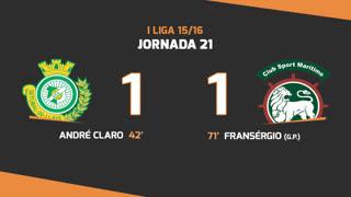 I Liga (21ªJ): Resumo Vitória FC 1-1 Marítimo M.