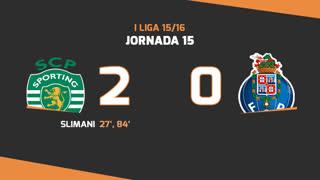 I Liga (15ªJ): Resumo Sporting CP 2-0 FC Porto