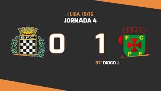 Liga NOS (4ªJ): Resumo Boavista FC 0-1 FC P.Ferreira