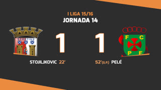 I Liga (14ªJ): Resumo SC Braga 1-1 FC P.Ferreira
