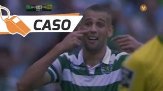 Sporting CP, Caso, Slimani aos 45'
