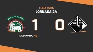 I Liga (24ªJ): Resumo Marítimo M. 1-0 A. Académica