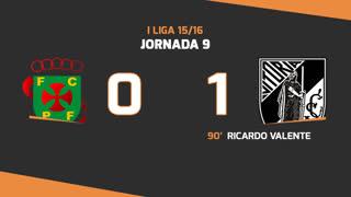 I Liga (9ªJ): Resumo FC P.Ferreira 0-1 Vitória SC