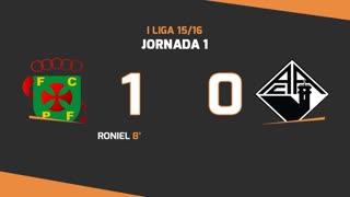 I Liga (1ªJ): Resumo FC P.Ferreira 1-0 A. Académica