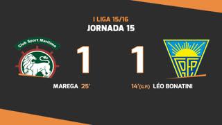 I Liga (15ªJ): Resumo Marítimo M. 1-1 Estoril Praia