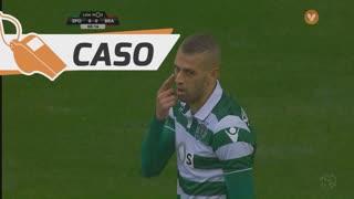 Sporting CP, Caso, Slimani aos 8'