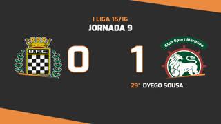 Liga NOS (9ªJ): Resumo Boavista FC 0-1 Marítimo M.