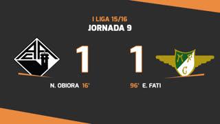 I Liga (9ªJ): Resumo A. Académica 1-1 Moreirense FC