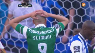 Sporting CP, Jogada, Slimani aos 17'