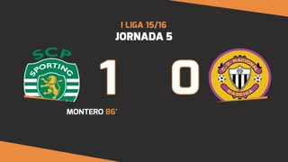 I Liga (5ªJ): Resumo Sporting CP 1-0 CD Nacional