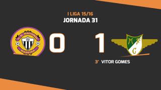 I Liga (31ªJ): Resumo CD Nacional 0-1 Moreirense FC