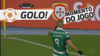 GOLO! Sporting CP, Slimani aos 23', Os Belenenses 0-1 Sporting CP