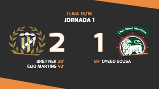 I Liga (1ªJ): Resumo U. Madeira 2-1 Marítimo M.